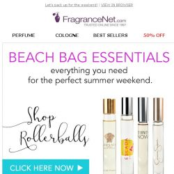 [FragranceNet] What's in your beach bag?