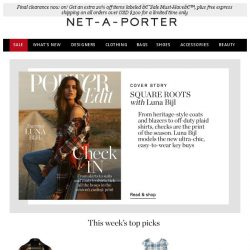 [NET-A-PORTER] Update your look with this ultra-cool print