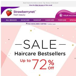[StrawberryNet] Up to 72% Off on Haircare Bestsellers for Unstoppable SHINE