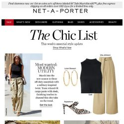 [NET-A-PORTER] The Chic List: attention! The new military dress code is here