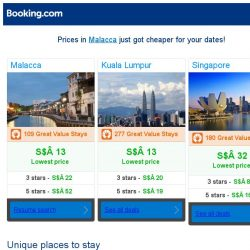 [Booking.com] Prices in Malacca are dropping for your dates!