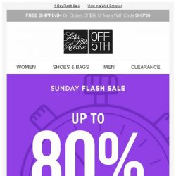 [Saks OFF 5th] Sundays (the) BEST: up to 80% off Rag & Bone, Valentino & more!