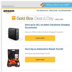 [Amazon] Save up to 30% on Anker Cell phone Charging...