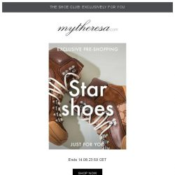 [mytheresa] 👠 Shoe club exclusive pre-shopping: The shoes of your dreams