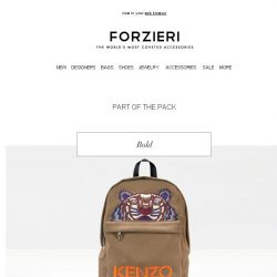 [Forzieri] The Backpack Edit: Kenzo, MCM, Moschino