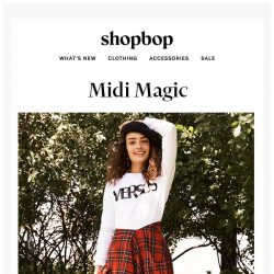 [Shopbop] These midi skirts are pure magic
