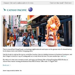 [Cathay Pacific Airways] Hong Kong Summer Fun from SGD248 all-in