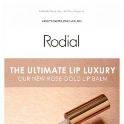 [RODIAL] Just Landed: The Rose Gold Lip Balm