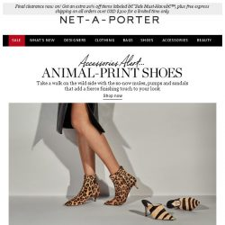 [NET-A-PORTER] Animal-print shoes that add a fierce finishing touch