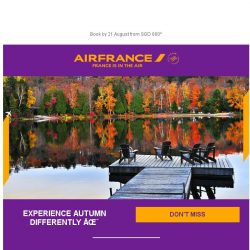 [AIRFRANCE] Last days to enjoy our autumn deals!