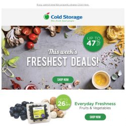 [Cold Storage] 🎉 No more waiting! Your weekly deals are online! 🎊
