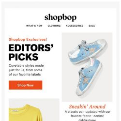 [Shopbop] EXCLUSIVES: You can only find these styles here!