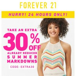 [FOREVER 21] Last Call! Extra 30% off!