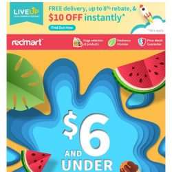 [Redmart] $6 and under SALE is here 🎁