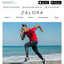 [Zalora] EXTRA 20% off Sports Favourites!