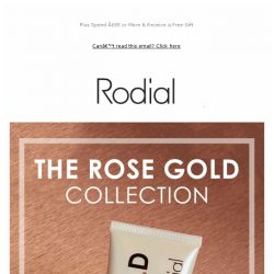 [RODIAL] Rose Gold: The Secret To Anti-Ageing