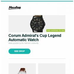 [Massdrop] Corum Admiral's Cup Legend Automatic Watch, Perrelet First Class Automatic Watch, Yamaha 7.2ch 4K HDR Dolby Atmos Receiver (Refurb) and more...