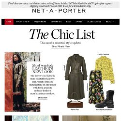 [NET-A-PORTER] Discover leather's new look