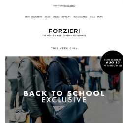 [Forzieri] Starts Now // Back to School EXCLUSIVE