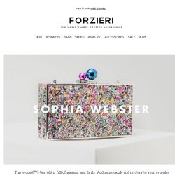 [Forzieri] What's New: Sophia Webster, Rebecca Minkoff and GEDEBE