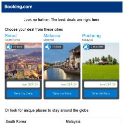 [Booking.com] Seoul, Malacca, or Puchong? Get great deals, wherever you want to go