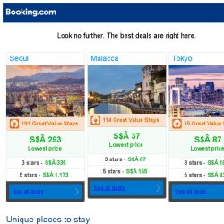 [Booking.com] Seoul, Malacca and Tokyo -- great last-minute deals as low as S$ 37!