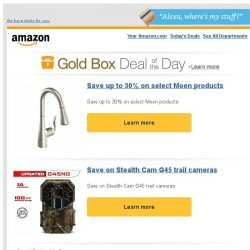 [Amazon] Save up to 30% on select Moen products