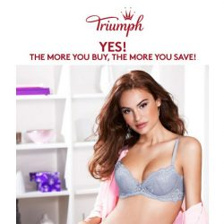 [Triumph] Up to 60% Savings with Buy More Save More!