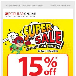 [Popular] Super sale 2018 @ POPULAR Online