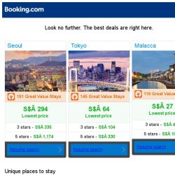 [Booking.com] Seoul, Tokyo, or Malacca? Get great deals, wherever you want to go