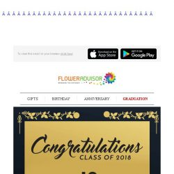 [Floweradvisor] We don't graduate from our college twice. So make it special!