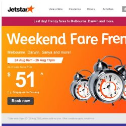 [Jetstar] 🕗 Final hours! Year-end getaways to Melbourne and more, don't miss out!