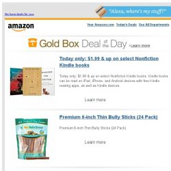 [Amazon] Today only: $1.99 & up on select Nonfiction...