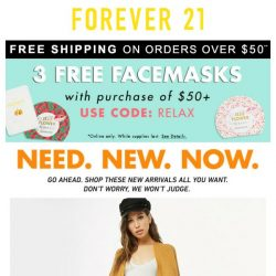 [FOREVER 21] Need. New. Now.