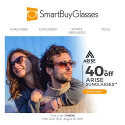[SmartBuyGlasses] Arise and shine great confidence with stylish yet affordable Arise sunglasses!