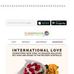 [Floweradvisor] Send Out Your Love Accross The Globe. Express Your With 10% OFF Sitewide!