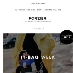 [Forzieri] You have 3 days for your Dream Bag 25% Off Exclusive