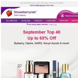 [StrawberryNet] September Top 40: Max Out Your Beauty Haul 😃