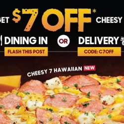 Pizza Hut: Flash This Post to Get $7 OFF Any Cheesy 7 Pizza or Use Coupon Code for Delivery or Takeaway!
