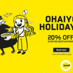 Scoot: Enjoy 20% OFF Over 50 destinations with PAssion Card!
