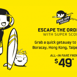 Scoot: Grab a Quick Getaway to Malaysia, Thailand & More from just $49 on Take Off Tuesday!