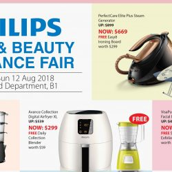 Takashimaya: Philips Home & Beauty Appliance Fair with Up to $240 OFF Philips Products