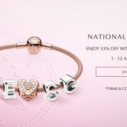 PANDORA: National Day Promotion - Get 53% OFF Every 2nd Jewellery Item Online or In-Store!