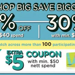 Watsons: Enjoy 30% OFF with Min. $60 Spend + Get Extra $5 Coupon with Min. $50 Nett Spend!