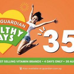Guardian: Get FLAT 35% Off across 100 Vitamin Brands for 4 Days Only!