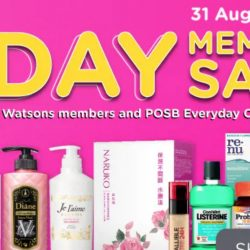 Watsons: Members' ONLY 1-Day Sale on 31 Aug with Deals up to 66% OFF + 6% POSB Everyday Card Rebate!