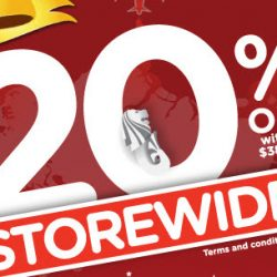 Watsons: 4-Day Storewide 20% OFF Sale + Get Up to $20 Coupon with Minimum Spend + 6% Cash Rebate