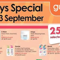 Guardian: 4-Day Special Sale with 25% OFF Selected Beauty Products, 3 for 2 & Up to 68% OFF Selected Health Products!