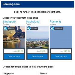 [Booking.com] Singapore, Kaohsiung, or Puchong? Get great deals, wherever you want to go