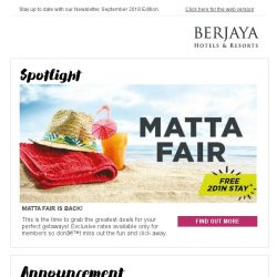 [Berjaya Hotels & Resorts EDm] You wouldn't want to miss our September Specials!